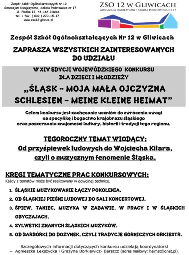 śląsk Moja Mała Ojczyzna Schlesien Meine Kleine Heimat